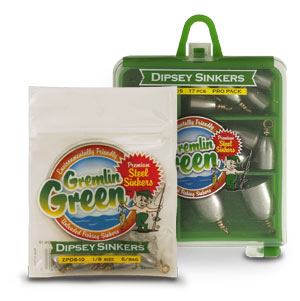 Gremlin Green™ Premium Steel Dipsey Swivel Sinkers
