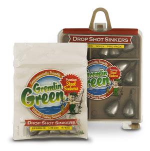 Gremlin Green™ Premium Steel Drop Shot Dipsey Sinkers